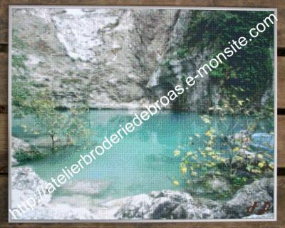 Fontaine de vaucluse pixel filigrane
