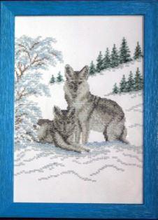 Les loups broderie 5