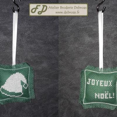 Bonnet Blanc sur Vert