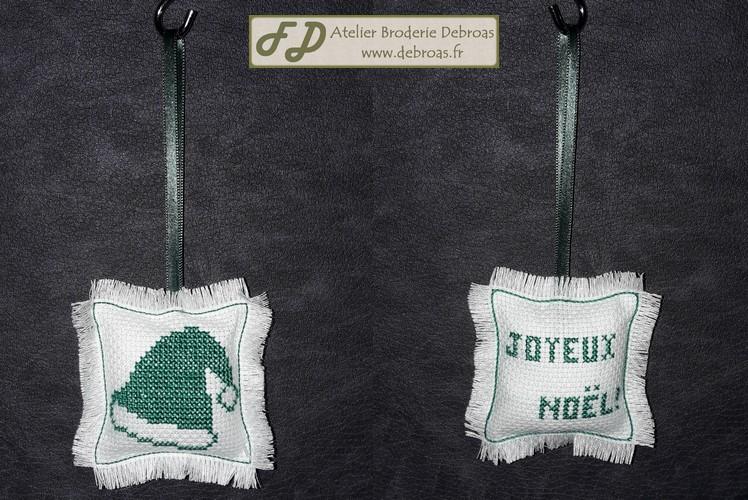 Bonnet Vert sur Blanc