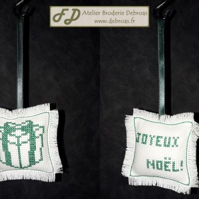 Cadeau Vert sur Blanc
