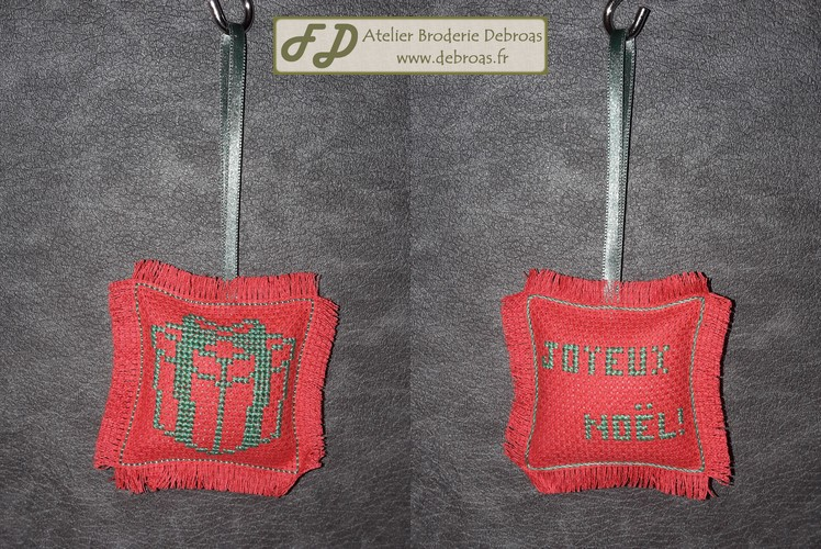 Cadeau Vert sur Rouge