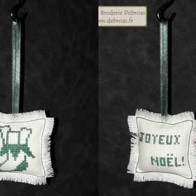 Chaussette Vert sur Blanc