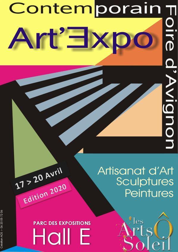 Affiche et flyer salon art expo 2020
