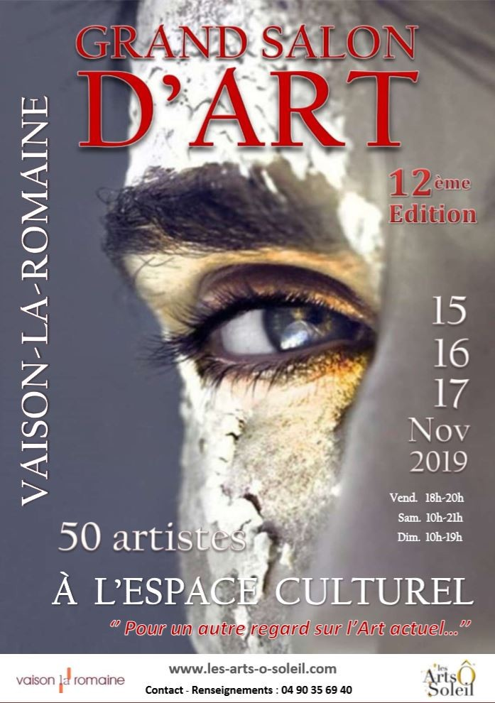Affiche grand salon d art vaison 2019