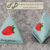 Befra611 berlingot fraise toile verte
