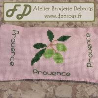Bpolv4042 bloque porte olives vertes toile rose