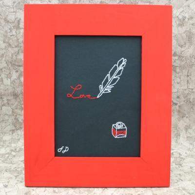Love écrit à la plume