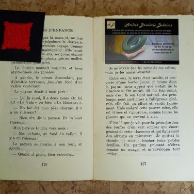 Marque-page Carreau