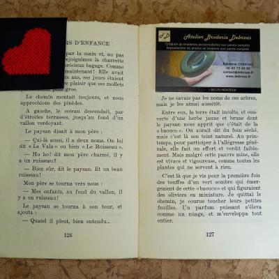 Marque-page Coeur