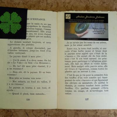 Marque-page Trèfle à 4 feuilles