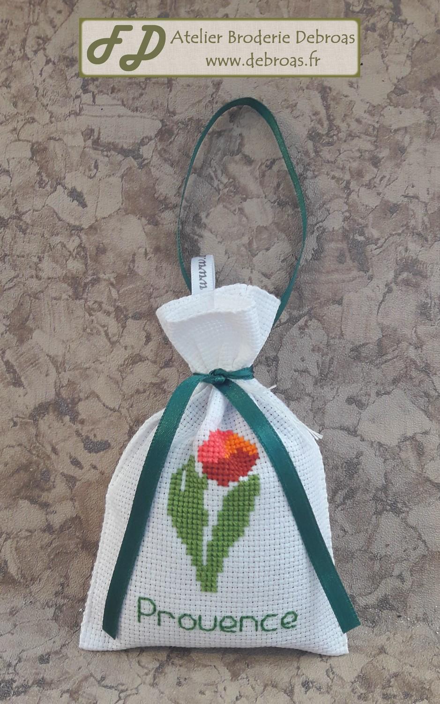 Sltul100 sachet tulipe toile blanche